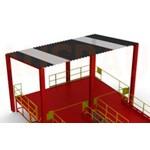 4. Tető a platform fölött LXG (OPT-RF). A készlet szétszerelt formában van – az ügyfél telepíti a helyszínen.
